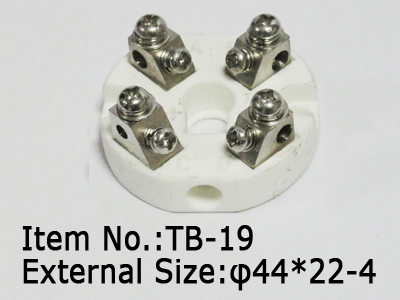 4pc ceramic terminal block with hole