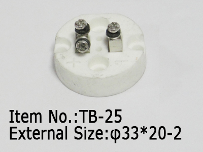 2pc small ceramic terminal block
